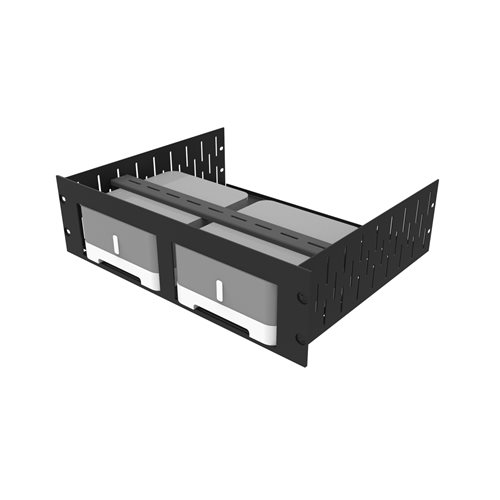 Penn Elcom 3U Rack Shelf & Faceplate For 2 x Sonos ZP120 (CONNECT:AMP) R1498/3UK-SONOSZP120  - Click to view a larger image