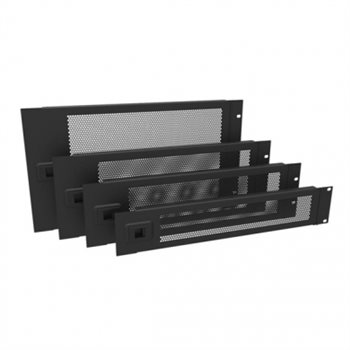 Penn Elcom 2U Rack Panel Hinged Perforated Black R1272/2UVK