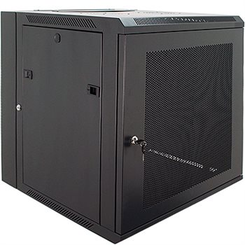 Penn Elcom 18U Wall Rack Double Section 600mm/23.62 Inch Deep Perforated Door DWP-6618BK  - Click to view a larger image