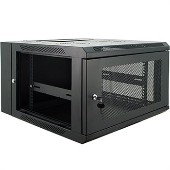 Penn Elcom 6U Wall Rack Double Section 600mm/23.62 Inch Deep Perforated Door DWP-6606BK  - Click to view a larger image