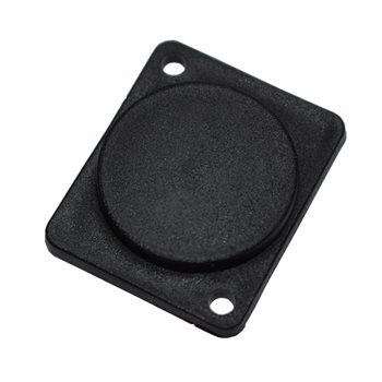 Penn Elcom Blanking Plate Flush Screw Fit Black Plastic M1906  - Click to view a larger image