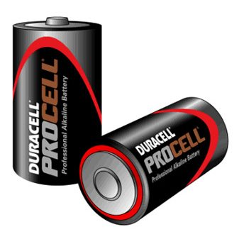 Procell Duracell Procell Size C / MN1400 Pack of 10 batteries Procell-C-(MOQ-50-Bo