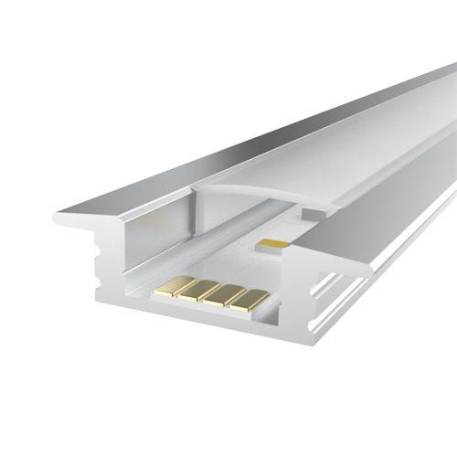 Penn Elcom 1m Kit 12.2mm Recessed Aluminium Profile LEDAL08  - Click to view a larger image