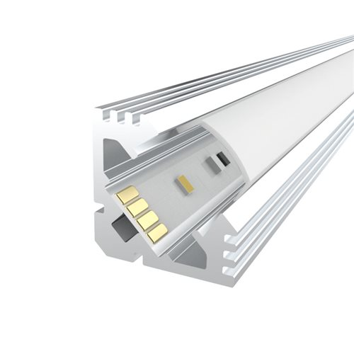 Penn Elcom 1m Kit 19mm Aluminium Corner Profile LEDAL11  - Click to view a larger image