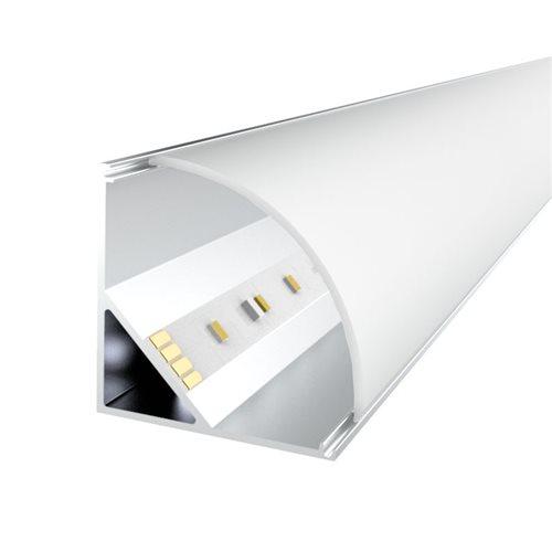 Penn Elcom 1m kit 20.2mm Wide Corner Aluminium Profile LEDAL23  - Click to view a larger image