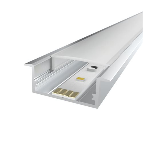 Penn Elcom 1m Kit 20.6mm Recessed Aluminium Profile LEDAL20  - Click to view a larger image