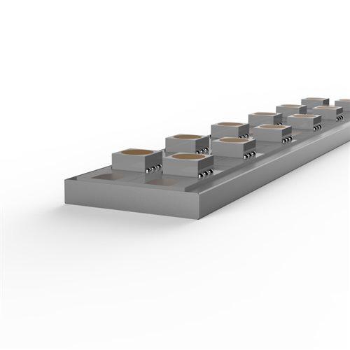 Penn Elcom 1M 3mm Aluminium Flat Bar for Led Flex LEDAL19  - Click to view a larger image