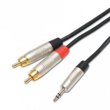 Penn Elcom Penn Elcom 3M Y-Lead Kabel 3.5mm Stereo Jack zu 2 x RCA Phono