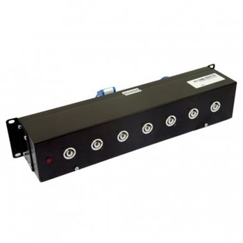 "Penn Elcom 2U 19"" Rack Mount 16AMP Dist Unit to 8 Neutrik Powercons PDU9H-SP005"