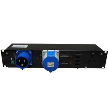 "Penn Elcom 2U 19"" Rack Mount 32AMP Dist Unit to 8 13AMP UK Sockets PDU9H-HM-1X32A-8XUK0  - Click to view a larger image"