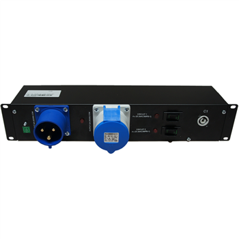 "Penn Elcom 2U 19"" Rack Mount PowerCon 20 Amp Distro Unit PDU9H-CON20A(1x32A-8  - Click to view a larger image"