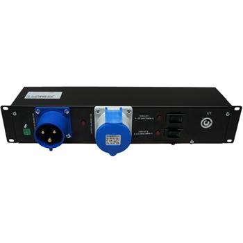 "Penn Elcom 2U 19"" Rack Mount PowerCon 20 Amp Distro Unit PDU9H-CON20A(1x32A-8  - Click to view a larger image"