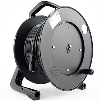 Penn Elcom 50M CAT5E Fixed Cable Reel Stealth Series