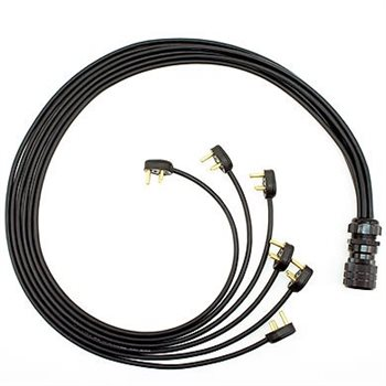 Comus 0.5M Stealth Series 6 WAY Mains Lead 19 Pin Male to 6 15 Amp Plugs