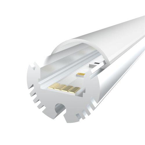 Penn Elcom 1m Kit 12.2mm Round Aluminium Profile LEDAL24  - Click to view a larger image