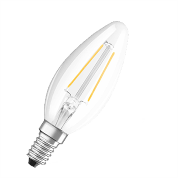 Osram Parathom Classic B 23 2W/27K SES Clear Filament Non Dim 4052899941755  - Click to view a larger image
