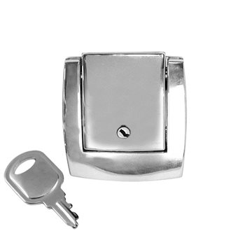 Penn Elcom Catch Block Diecast Lockable Chrome 47 x 58mm L0575  - Click to view a larger image