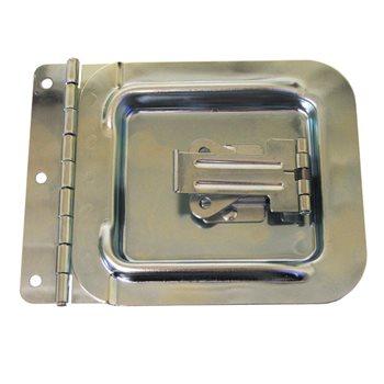 Penn Elcom Cable Hatch Large Zinc 156 x 155mm D0047Z  - Click to view a larger image