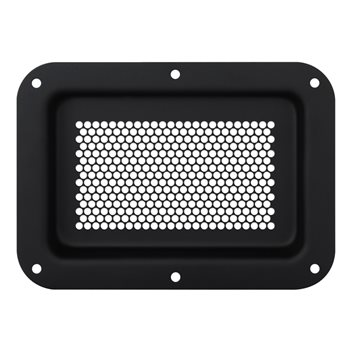 Penn Elcom Recess Dish Perforated  178 x 127mm Black D2101K-04  - Click to view a larger image