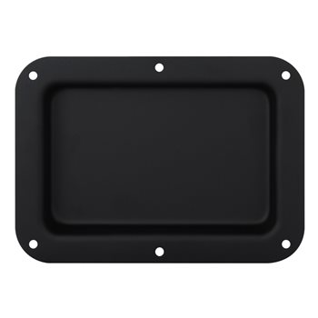 Penn Elcom Recess Dish Plain Black 178 x 127mm to suit Tour Labels D2101K  - Click to view a larger image