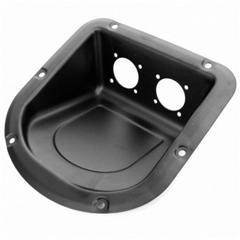 Penn Elcom Dish Angled for 2 x Unified D-Series Connectors D9802  - Click to view a larger image
