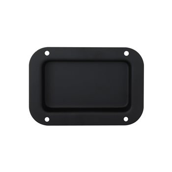 Penn Elcom Recess Dish Blank Steel Black 130mm 89mm D0941K  - Click to view a larger image
