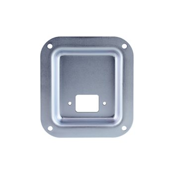 Penn Elcom Recess Dish punched for 1 euro socket  Zinc 112 X 102mm D0946-10Z  - Click to view a larger image