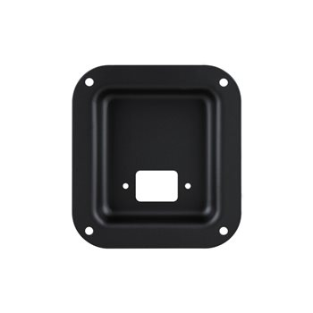Penn Elcom Recess Dish punched for 1 x IEC Black D0946-10K  - Click to view a larger image