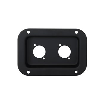 Penn Elcom Recess Dish Punched for 2 x D-Series Connectors Black D0604K  - Click to view a larger image