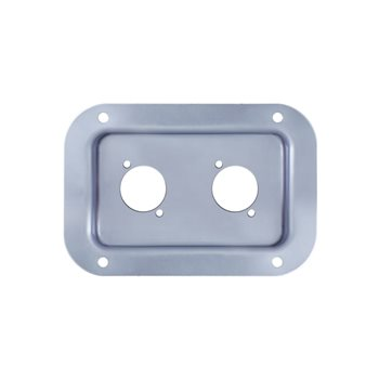Penn Elcom Recess Dish Punched for 2 x D-Series Connectors PennBrite D0604Z  - Click to view a larger image