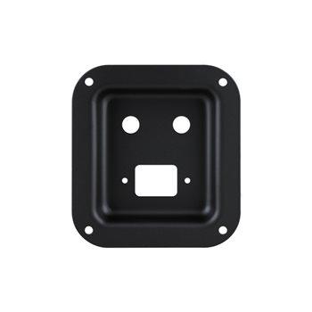 Penn Elcom Recess Dish Punched for 2 x Jack Sockets & 1 x IEC Black D0946-50K  - Klicken Sie hier, um ein größeres Bild zu sehen