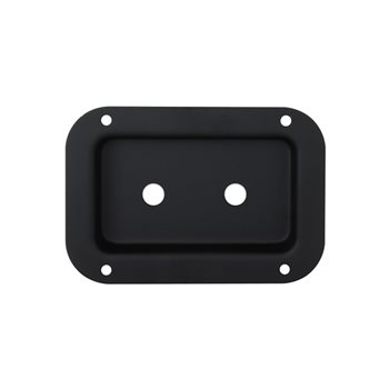 Penn Elcom Recess Dish Punched for 2 x Jack Sockets Black D0607K  - Click to view a larger image