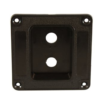 Penn Elcom Recess Dish Punched for 2 x Jack Sockets Plastic M1500  - Click to view a larger image