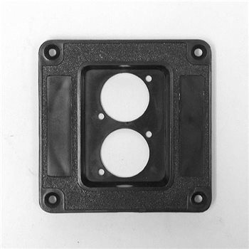 Penn Elcom Recess Dish Punched for for 2 x D-Series Connectors Plastic M1504  - Click to view a larger image