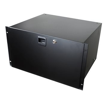 Penn Elcom 6U Rack Drawer with Slam Latch & Key Lock 3236LK  - Click to view a larger image