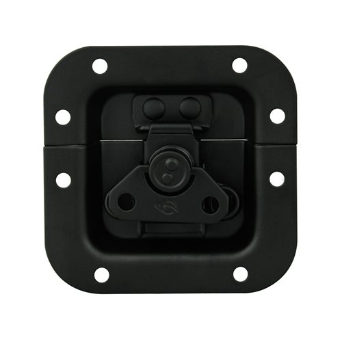 Penn Elcom Mini Recessed Butterfly Latch in Deep Plain Dish L904/914K  - Click to view a larger image