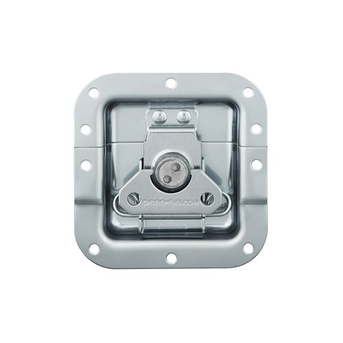 "Penn Elcom Medium Recessed Butterfly Latch in Deep Dish with 27mm / 1 1/16"" Offset on Bottom Half Only L9075/915Z  - Click to view a larger image"