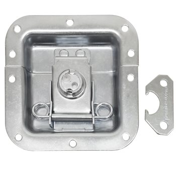 Penn Elcom Medium Tamper Proof Recessed Butterfly Latch in Deep Plain Dish L905/920Z  - Click to view a larger image