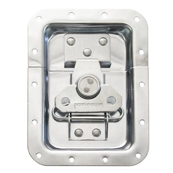 "Penn Elcom Large Recessed Butterfly Latch in Deep Plain Dish. From Split to Hole Centre: 19mm / 3/4"" L925/525S  - Click to view a larger image"