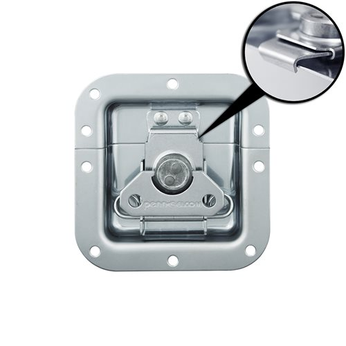 Penn Elcom Medium Recessed Butterfly Latch in Plain Deep Dish with Low Mount and Alignment Dowel L915856Z  - Click to view a larger image