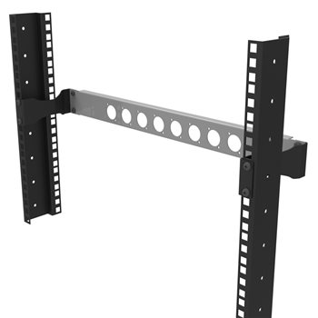 Penn Elcom Rack Mount Offset Bracket 1U Pair R1207-1U  - Click to view a larger image