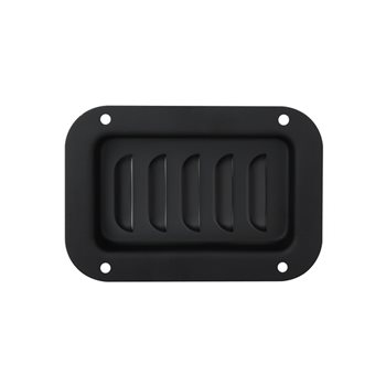 Penn Elcom Black Vertical Louvered Dish D0516K  - Click to view a larger image