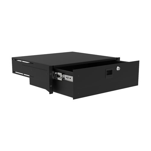 Penn Elcom 3U Touring Grade Heavy Duty Rack Drawer Black R2293/3UK  - Click to view a larger image