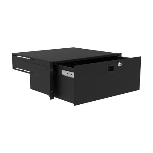 Penn Elcom 4U Touring Grade Heavy Duty Rack Drawer Black R2293/4UK  - Click to view a larger image