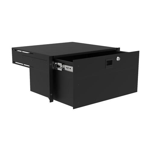 Penn Elcom 5U Touring Grade Heavy Duty Rack Drawer Black R2293/5UK  - Cliquez pour agrandir limage