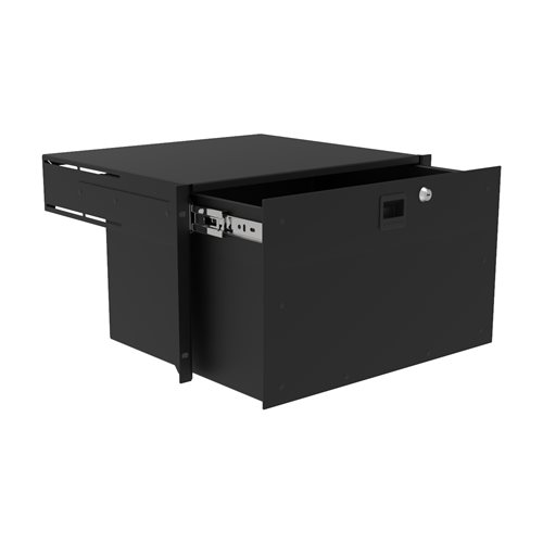 Penn Elcom 6U Touring Grade Heavy Duty Rack Drawer Black R2293/6UK  - Click to view a larger image