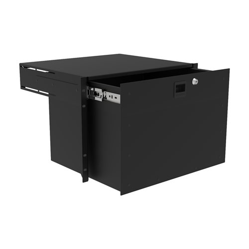 Penn Elcom 7U Touring Grade Heavy Duty Rack Drawer Black R2293/7UK  - Click to view a larger image