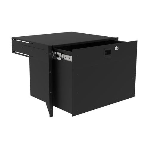 Penn Elcom 8U Touring Grade Heavy Duty Rack Drawer Black R2293/8UK  - Click to view a larger image