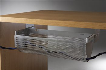 Penn Elcom Sliding Cable Tray Silver 500mm CMS-05S  - Click to view a larger image