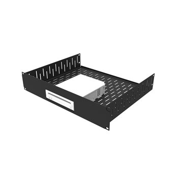 Penn Elcom 2U Black Rack Shelf With Custom Face Plate For WII R1498/2UK-WII  - 点击查看大图